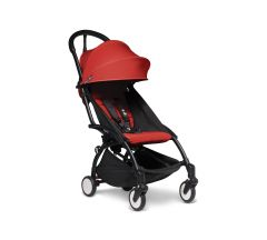 BABYZEN YOYO2 6mth+ Stroller- Black with Red