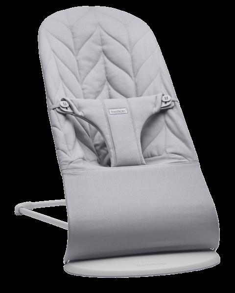 BABYBJÖRN - Bouncer BLISS - Light Grey, Cotton, Petal Quilt